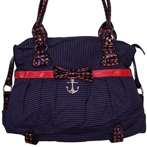 Iron Fist Navy Sinking Ships Anchor Handbag